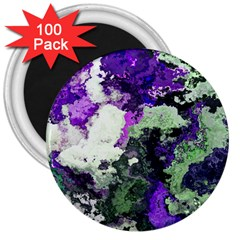 Background Abstract With Green And Purple Hues 3  Magnets (100 Pack)