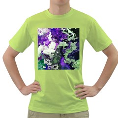 Background Abstract With Green And Purple Hues Green T Shirt