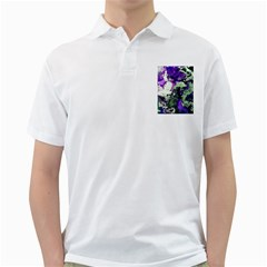 Background Abstract With Green And Purple Hues Golf Shirts