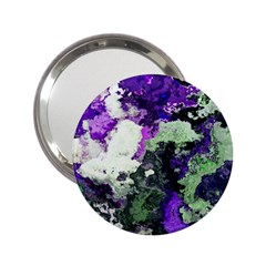 Background Abstract With Green And Purple Hues 2 25  Handbag Mirrors