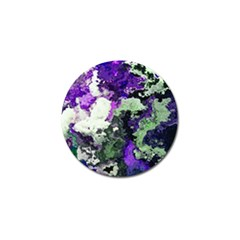 Background Abstract With Green And Purple Hues Golf Ball Marker