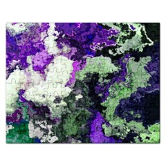 Background Abstract With Green And Purple Hues Rectangular Jigsaw Puzzl