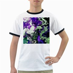 Background Abstract With Green And Purple Hues Ringer T-Shirts