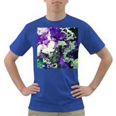 Background Abstract With Green And Purple Hues Dark T Shirt