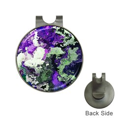 Background Abstract With Green And Purple Hues Hat Clips With Golf Markers