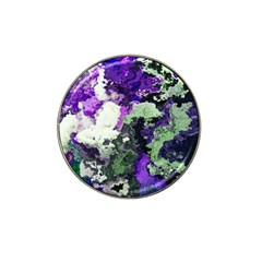 Background Abstract With Green And Purple Hues Hat Clip Ball Marker