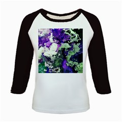 Background Abstract With Green And Purple Hues Kids Baseball Jerseys