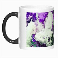 Background Abstract With Green And Purple Hues Morph Mugs