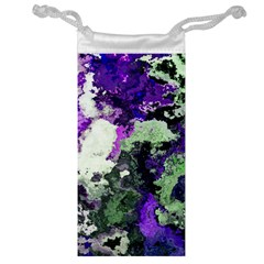 Background Abstract With Green And Purple Hues Jewelry Bag
