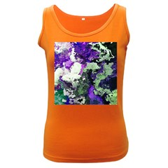 Background Abstract With Green And Purple Hues Women s Dark Tank Top