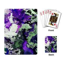 Background Abstract With Green And Purple Hues Playing Card