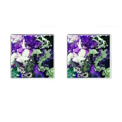 Background Abstract With Green And Purple Hues Cufflinks (square)