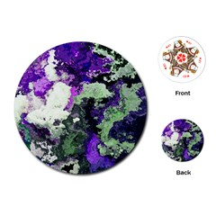 Background Abstract With Green And Purple Hues Playing Cards (Round)