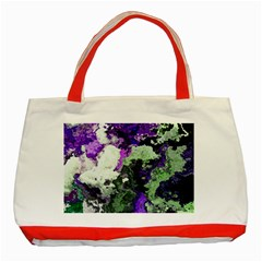 Background Abstract With Green And Purple Hues Classic Tote Bag (red)