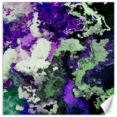 Background Abstract With Green And Purple Hues Canvas 12  X 12