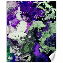 Background Abstract With Green And Purple Hues Canvas 16  X 20