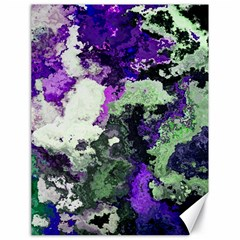 Background Abstract With Green And Purple Hues Canvas 18  X 24