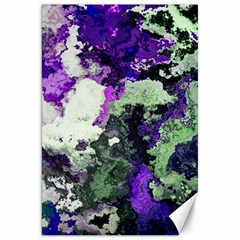 Background Abstract With Green And Purple Hues Canvas 20  X 30