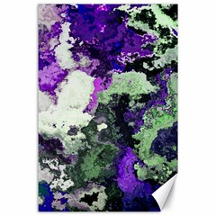 Background Abstract With Green And Purple Hues Canvas 24  x 36