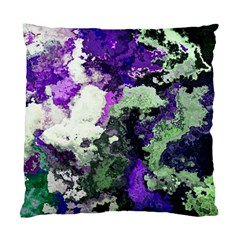 Background Abstract With Green And Purple Hues Standard Cushion Case (one Side)