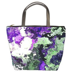 Background Abstract With Green And Purple Hues Bucket Bags