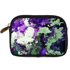 Background Abstract With Green And Purple Hues Digital Camera Cases