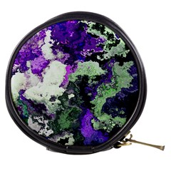 Background Abstract With Green And Purple Hues Mini Makeup Bags