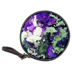 Background Abstract With Green And Purple Hues Classic 20-CD Wallets