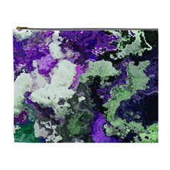 Background Abstract With Green And Purple Hues Cosmetic Bag (XL)