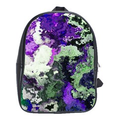 Background Abstract With Green And Purple Hues School Bags(Large)