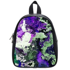 Background Abstract With Green And Purple Hues School Bags (Small)