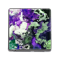 Background Abstract With Green And Purple Hues Memory Card Reader (square)