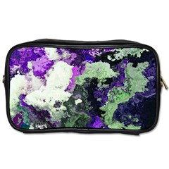 Background Abstract With Green And Purple Hues Toiletries Bags