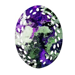 Background Abstract With Green And Purple Hues Ornament (oval Filigree)