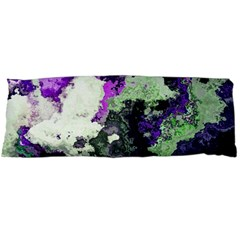 Background Abstract With Green And Purple Hues Body Pillow Case Dakimakura (Two Sides)