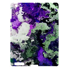 Background Abstract With Green And Purple Hues Apple iPad 3/4 Hardshell Case