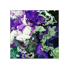 Background Abstract With Green And Purple Hues Acrylic Tangram Puzzle (4  X 4 )