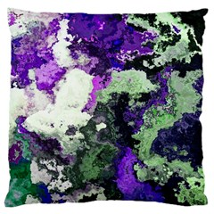 Background Abstract With Green And Purple Hues Large Cushion Case (Two Sides)