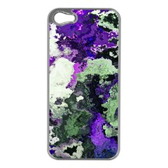 Background Abstract With Green And Purple Hues Apple iPhone 5 Case (Silver)
