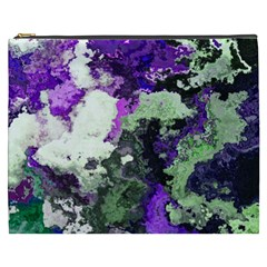 Background Abstract With Green And Purple Hues Cosmetic Bag (XXXL)