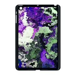 Background Abstract With Green And Purple Hues Apple Ipad Mini Case (black)