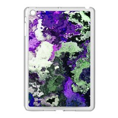 Background Abstract With Green And Purple Hues Apple Ipad Mini Case (white)