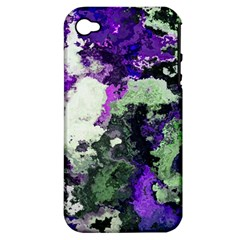 Background Abstract With Green And Purple Hues Apple Iphone 4/4s Hardshell Case (pc+silicone)