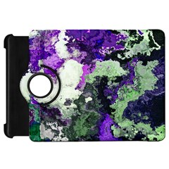 Background Abstract With Green And Purple Hues Kindle Fire Hd 7