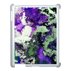 Background Abstract With Green And Purple Hues Apple Ipad 3/4 Case (white)