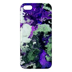 Background Abstract With Green And Purple Hues Apple iPhone 5 Premium Hardshell Case