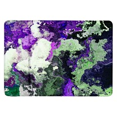 Background Abstract With Green And Purple Hues Samsung Galaxy Tab 8 9  P7300 Flip Case