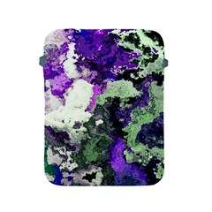 Background Abstract With Green And Purple Hues Apple Ipad 2/3/4 Protective Soft Cases