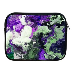 Background Abstract With Green And Purple Hues Apple iPad 2/3/4 Zipper Cases