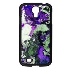 Background Abstract With Green And Purple Hues Samsung Galaxy S4 I9500/ I9505 Case (Black)